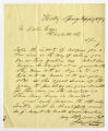 Letter by James Sims, Holly Springs, Miss., to Ziba Oakes