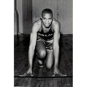 English High School athlete poses for the camera.
