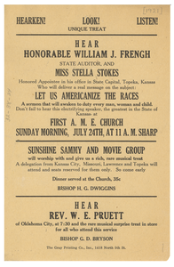 Announcement of speech by William J. Frengh