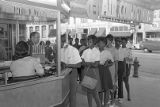 Civil rights demonstration at the Ritz Theater