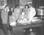 Historian Dr. Merle R. Eppse and Tennessee Agricultural & Industrial State University Student Group with Nashville Mayor Ben West at City Hall, 1954 February
