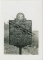 """Sign marking the location of """"Nigger Springs"""" and explaining the historical significance of the spring"""