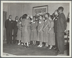 Juanita Hall, conducting the Negro Melody Singers