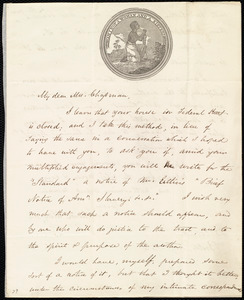 Letter from Samuel May, 25 Cornhill, Boston, [Mass.], to Maria Weston Chapman, Aug't 15th, [1846]