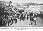 Ashantikrigen 1896; Engelske Soldater lande ved Cap Coast Castle