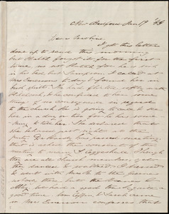 Letter from Deborah Weston, New Bedford, [Mass.], to Caroline Weston, Jan. 19, '44