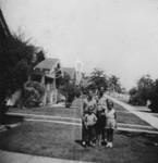 Children in front yard