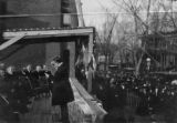 President Roosevelt speaking at the laying of the cornerstone of the Colored YMCA building