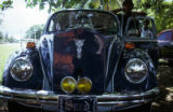Front view of vintage car