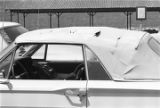 "Convertible with a slashed top, probably damaged during the ""March Against Fear"" through Mississippi, begun by James Meredith."