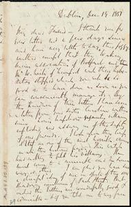 Letter from Richard Davis Webb, Dublin, [Ireland], to Anne Warren Weston, Dec. 19, 1851