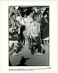 Ben Marcus and Little Joe Gomez (of the Peyote Church) during ceremonial dance at the Taos pueblo. Taos, NM 1967.