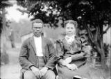African American man and woman portrait