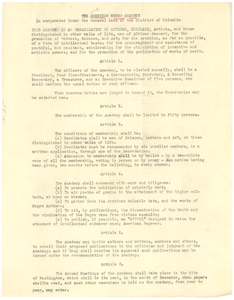 The American Negro Academy organizational constitution