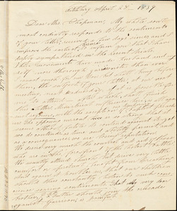 Letter from Eliza Fuller Gill, Fitchburg, [Massachusetts], to Maria Weston Chapman, 1839 April 28