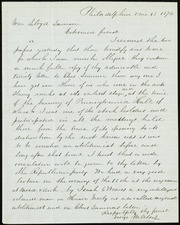Letter to] Wm Lloyd Garrison, Esteemed friend [manuscript