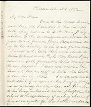 Letter to] My dear Anne [manuscript