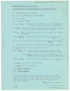 Memorandum for Mr. R. C. Bruce Suggested form for brief sketches of biographical data