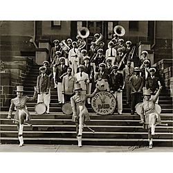 Iron City Elks Lodge No. 17 Band on the Steps of Carnegie Library of Pittsburgh, Wylie Avenue Branch