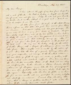 Letter from William Lloyd Garrison, Brooklyn, [Conn.], to George William Benson, Nov. 27, 1835
