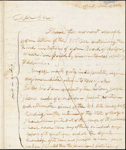 Letter from Theodore Dwight Weld, Hartford, [Connecticut], to William Lloyd Garrison, 1833 Jan[uary] 1
