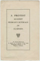 """""""A Protest Against Woman's Suffrage in Alabama."""""""