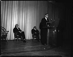 Dr. Ralph Bunche at Howard U[niversity], May 1964 [cellulose acetate photonegative]
