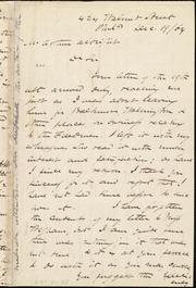 Letter to] Dr Sir [manuscript