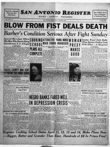 San Antonio Register (San Antonio, Tex.), Vol. 2, No. 51, Ed. 1 Friday, March 24, 1933 San Antonio Register