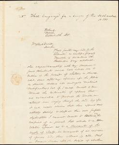 Letter from James F. Otis, Portland, Maine, to William Lloyd Garrison, 1835 September 5th