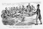 """The Irrepressible Conflict""; Or the Republican Barge in Danger"