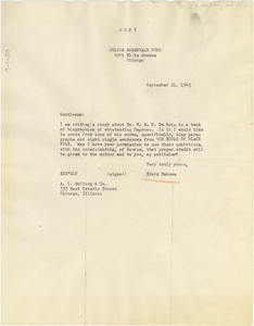 Letter from Edwin R. Embree to A.C. McClurg & Co.