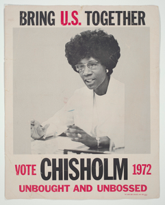 Poster for presidential candidate Shirley Chisholm