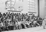 Audience for the United States Navy Band, South Bronx High School