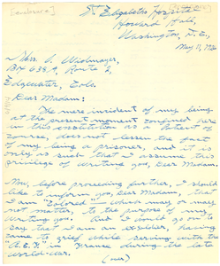Letter from William J. Romes to Mrs. O. Widmayer