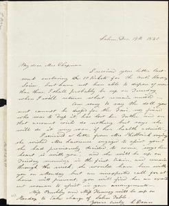 Letter from Lydia Dean, Salem, [Massachusetts], to Maria Weston Chapman, 1840 December 19