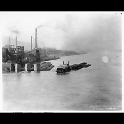 """Towboat """"Sailor"""" Pushing a Load of Coal"""
