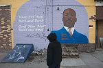 MLK Jr. mural, Avenue Laundromat, Central Ave. at Connecticut Ave. Bridgeport, 2010