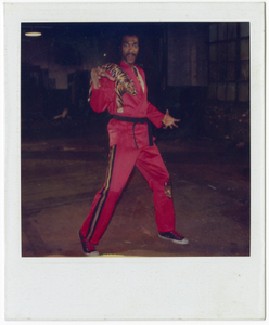 Color polaroid of Julius Carry as Sho'Nuff