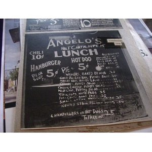 Angelo's Restaurant's lunch menu.