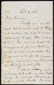 Letter to] Dear Garrison [manuscript
