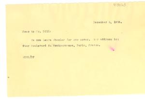 Thumbnail for Memorandum from W. E. B. Du Bois to A. G. Dill