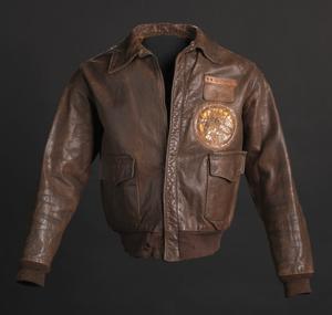 Tuskegee Airman flight jacket worn by Lt. Col. Woodrow W. Crockett