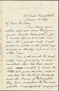 Letter from Oliver Johnson, [New York, N.Y.], to William Lloyd Garrison, June 14, 1869