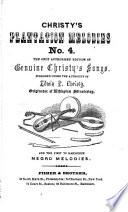 Christy's plantation melodies, no. 4