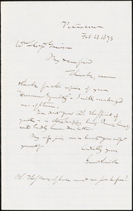 Letter from Gerrit Smith, Peterboro, [New York], to William Lloyd Garrison, 1873 Feb[ruary] 23