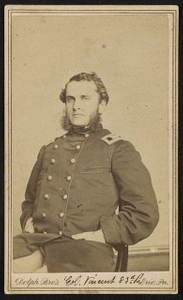[Brigadier General Strong Vincent of Co. A, Erie Pennsylvania Infantry Regiment and 83rd Pennsylvania Infantry Regiment in uniform]