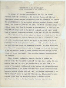 Resolutions of the Twenty-First Annual Conference of the N.A.A.C.P.