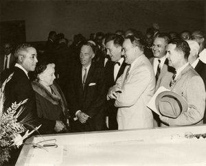 32. 1961: Merle, His Former Teacher, and Guests at His Swearing-In Ceremony as U.S. Attorney