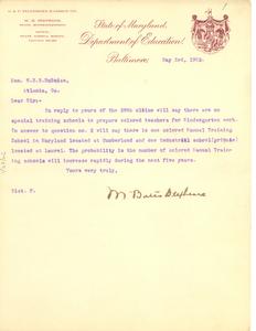 Thumbnail for Letter from M. Bates Stephens to W. E. B. Du Bois